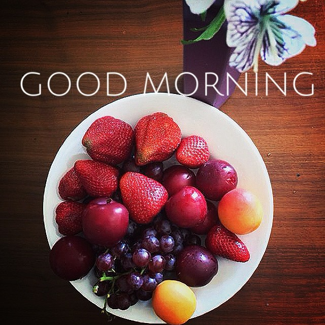 Always start your day fresh. Have a good, fresh morning.